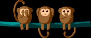 3 cheeky monkeys